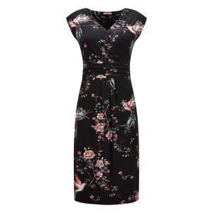 Платье-миди с цветочным рисунком JOE BROWNS. Цвет: черный наб. рисунок