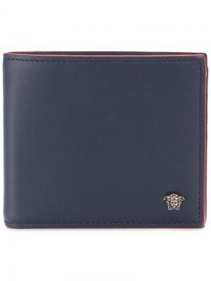 Бумажник Utiliflage Versace. Цвет: синий