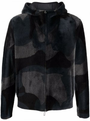 Camouflage-print hooded jacket Emporio Armani. Цвет: черный