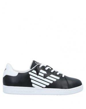 Низкие кеды и кроссовки EA7. Цвет: черный