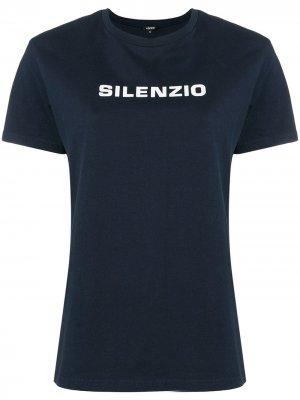 Футболка с принтом Silenzio Aspesi. Цвет: синий