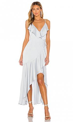 Платье bias Shona Joy. Цвет: синий