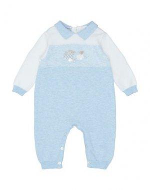 Детский комбинезон BABY GRAZIELLA. Цвет: небесно-голубой