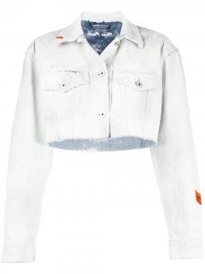 Джинсовая куртка с необработанными краями Heron Preston. Цвет: синий