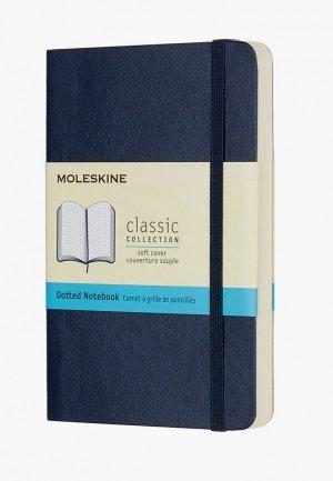 Блокнот Moleskine пунктир. Цвет: синий
