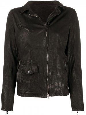 Куртка на молнии с длинными рукавами Salvatore Santoro. Цвет: черный