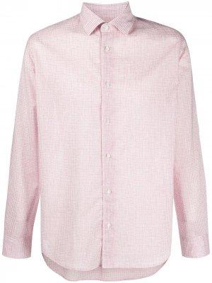 Рубашка в клетку гингем с длинными рукавами Altea. Цвет: розовый