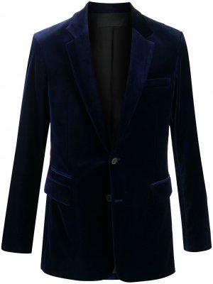 Бархатный пиджак Haider Ackermann. Цвет: синий
