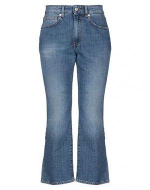 Джинсовые брюки-капри MAURO GRIFONI. Цвет: синий