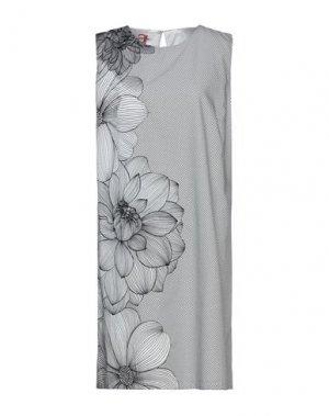 Короткое платье ATINSIGHT by ANDREA TURCHI. Цвет: белый