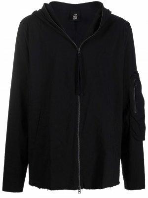 Куртка на молнии с капюшоном Thom Krom. Цвет: черный
