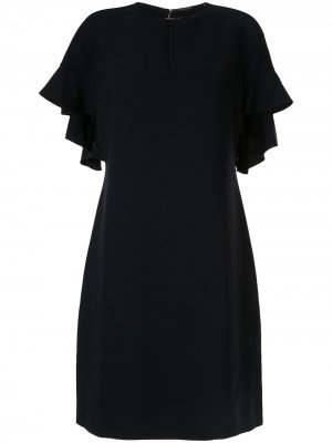 Креповое платье odore Elie Tahari. Цвет: синий
