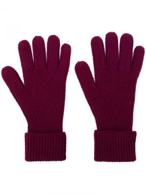 Перчатки в рубчик N.Peal. Цвет: розовый и фиолетовый
