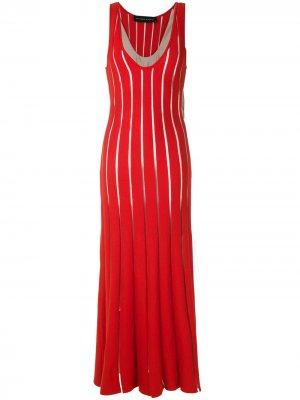 Трикотажное платье со вставками Gloria Coelho. Цвет: красный