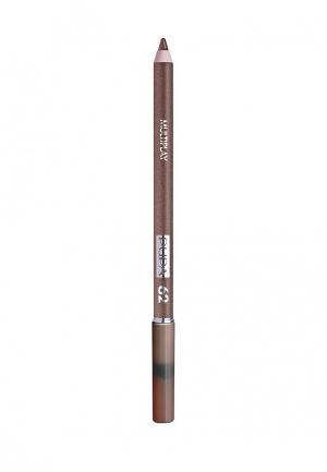 Карандаш для глаз Pupa с аппликатором Multiplay Eye Pencil, 62 золотой коричневый. Цвет: коричневый