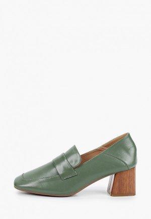 Туфли Berkonty. Цвет: зеленый