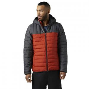 Утепленная стеганая куртка Outdoor Reebok. Цвет: burnt amber