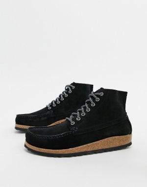 Черные ботинки на плоской подошве -Черный Birkenstock