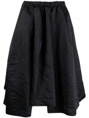 Пышная юбка миди асимметричного кроя Comme Des Garçons. Цвет: черный