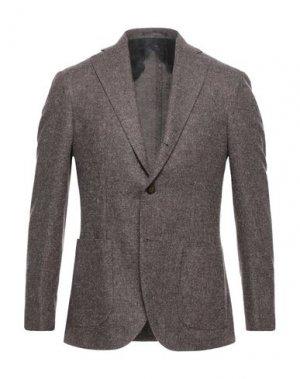 Пиджак BARBA Napoli. Цвет: коричневый