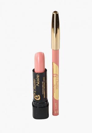 Набор для макияжа губ Chatte Noire Карандаш + Помада  №10, 5,75. Цвет: розовый