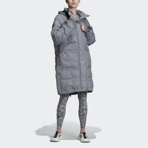 Утепленная куртка-бомбер Athletics Long by Stella McCartney adidas. Цвет: серый