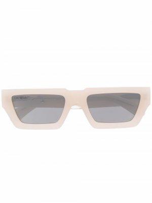 Солнцезащитные очки Manchester Off-White. Цвет: нейтральные цвета
