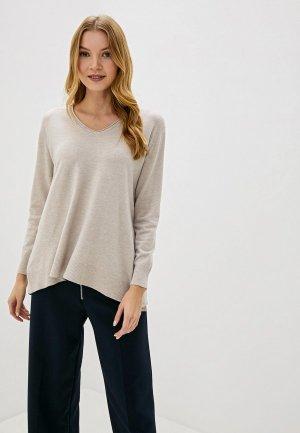 Пуловер Bluoltre. Цвет: бежевый