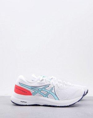 Белые кроссовки для бега RunningGel-Contend 7-Белый Asics