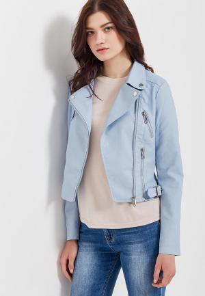 Куртка кожаная Adrixx AD021EWATWE8. Цвет: голубой
