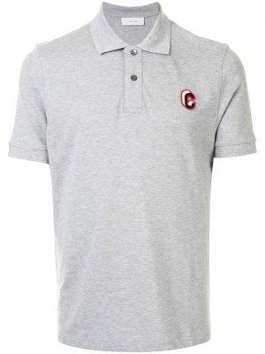Рубашка поло с вышитым логотипом Cerruti 1881. Цвет: серый