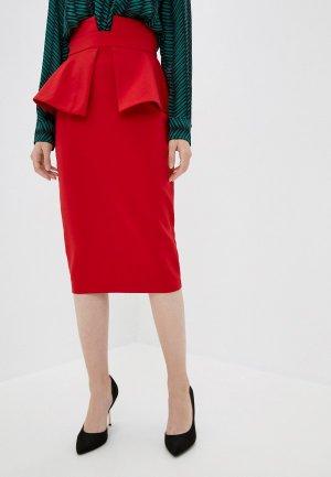 Юбка Gepur. Цвет: красный