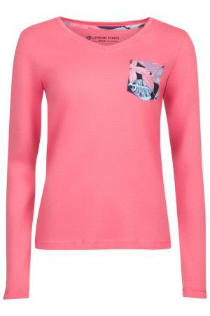 Лонгслив Alpine Pro. Цвет: розовый