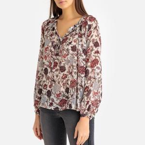 Блузка с цветочным рисунком IKKS. Цвет: рисунок/экрю