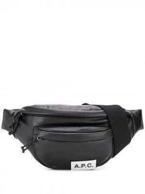 Поясная сумка с карманами A.P.C.. Цвет: черный