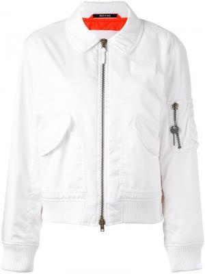 Куртка бомбер с воротником Maison Margiela. Цвет: белый