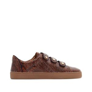 Кеды на липучке Tennis Scratch Crantees BENSIMON. Цвет: коньячный