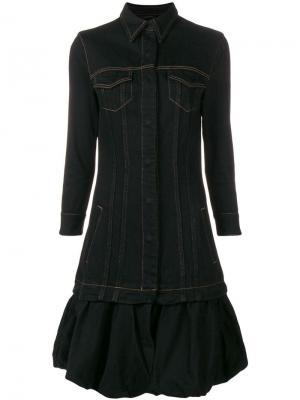 Джинсовое платье-куртка Marques'Almeida. Цвет: черный