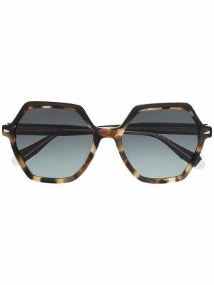 Солнцезащитные очки Sunset в шестиугольной оправе GIGI STUDIOS. Цвет: коричневый