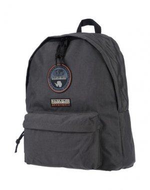 Рюкзаки и сумки на пояс NAPAPIJRI. Цвет: свинцово-серый