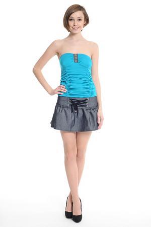 Платье Fashion Dress. Цвет: голубой