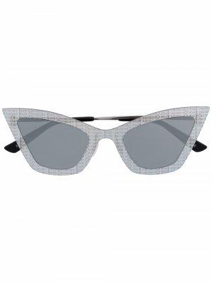 Солнцезащитные очки Kardo в оправе кошачий глаз Christian Roth. Цвет: серебристый