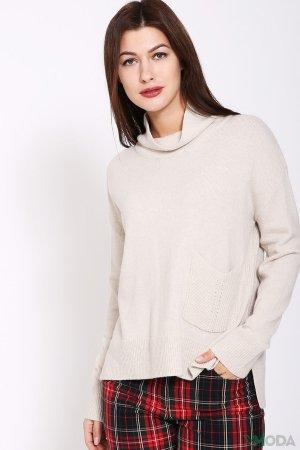Пуловер Oui. Цвет: бежевый