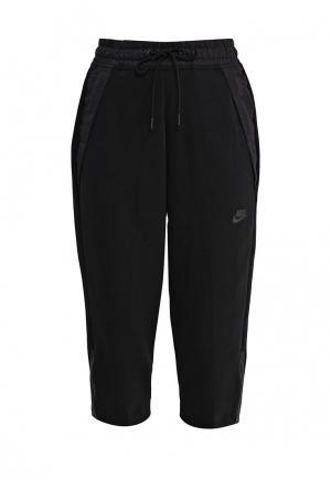 Бриджи Nike W NSW TCH FLC PANT SNKR. Цвет: черный