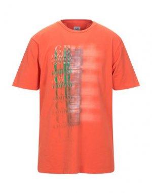 Футболка C.P. COMPANY. Цвет: оранжевый