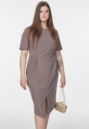 Платье Fly. Цвет: коричневый