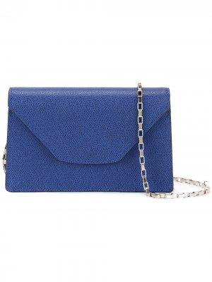 Мини сумка через плечо Iside Chain Valextra. Цвет: синий
