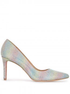Туфли-лодочки Godiva Rainbow с кристаллами Badgley Mischka. Цвет: разноцветный