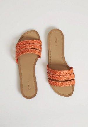 Сабо Oysho. Цвет: оранжевый