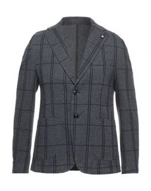 Пиджак EXIBIT. Цвет: свинцово-серый